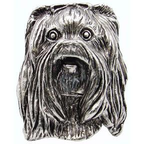 Yorkshire Terrier Knob Pewter Oxide